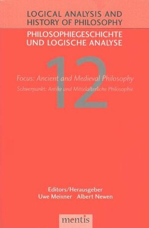 Cover Focus: Ancient and Medieval Philosophy/Schwerpunkt: Antike und Mittelalterliche Philosophie
