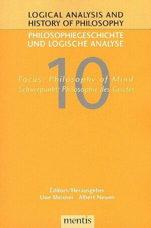 Cover Focus: Philosophy of Mind/Schwerpunkt: Philosophie des Geistes