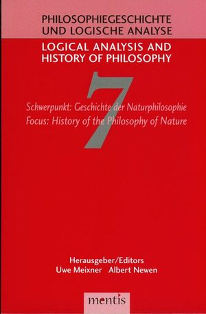 Cover Schwerpunkt: Geschichte der Naturphilosophie / Focus: History of the Philosophy of Nature