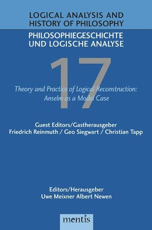 Cover Theory and Practice of Logical Reconstruction: Anselm as a Model Case