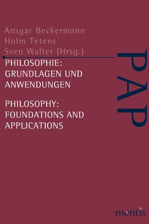 Cover Philosophie: Grundlagen und Anwendungen /Philosophy: Foundations and Applications