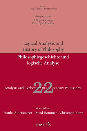 Cover Analysis and Explication in 20th Century Philosophy